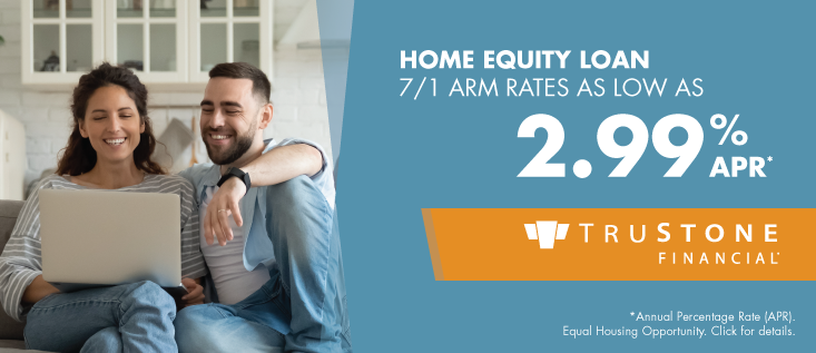 Home Equity Loan 7/1 ARM rates as low as 2.99% APR